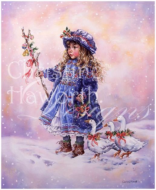 Winter Paintbox Poppets : Goose Girl © Copyright Christine Haworth Designs