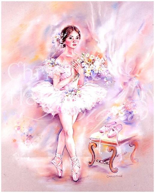 Картинки с балериной для открыток 3